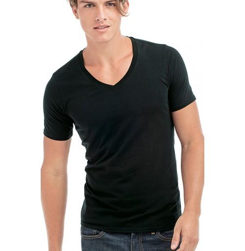 Djupt V ringad T shirts