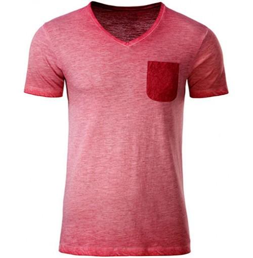 Snygg v-ringad t-shirt med bröstficka