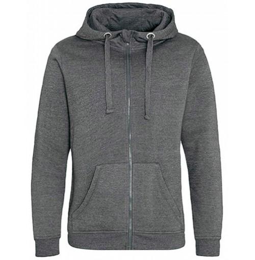 Höghalsad hoodie zip