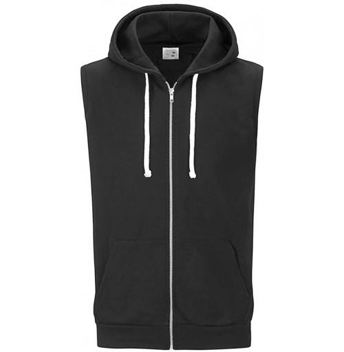 Ärmlös hoodie zip
