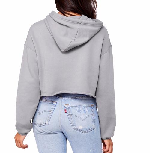 Beskuren dam hoodie avklippt nederkant