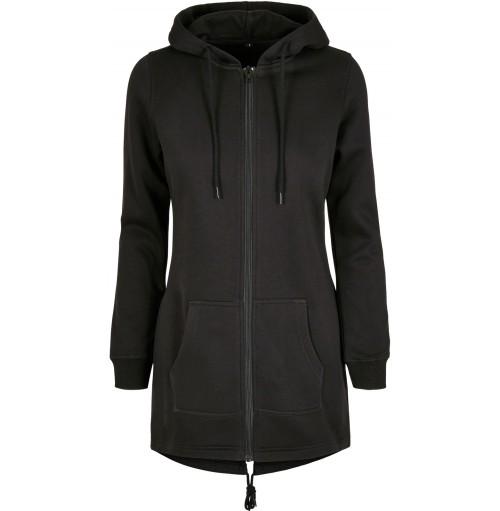 Dam lång hoodie zip