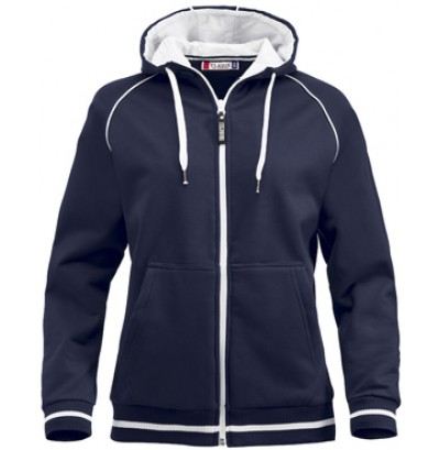 hoodie i dammodell med dragkedja