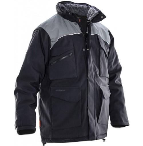 Jacka vinterparkas kan fås med eget tryck