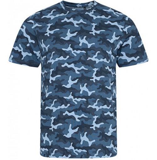 T-shirt i kamouflagemönster  med eget tryck
