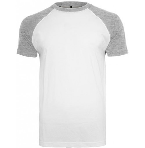 Raglan, baseball kontrast t-shirt