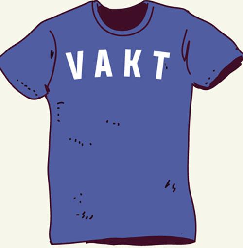 Vakt t-shirt med eget tryck