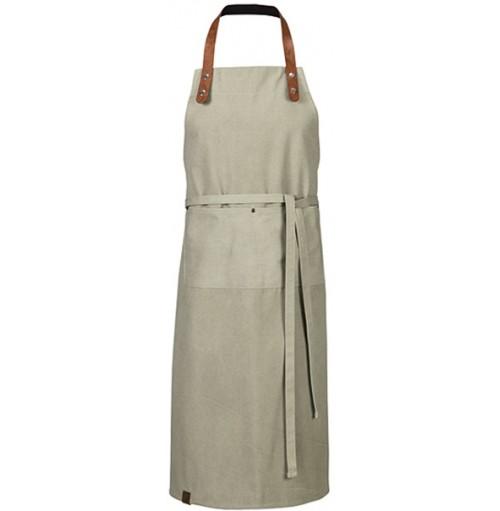 Bröstlappsförkläde med ficka