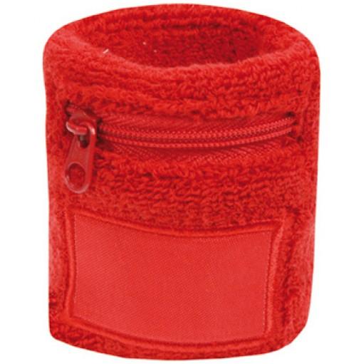 Bomulls armband med ficka och dragkedja